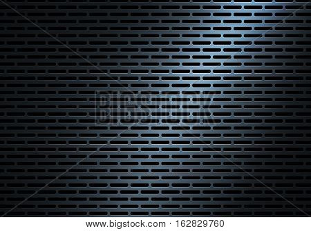 Abstract Modern Blue Perforated Metal Plate Texture