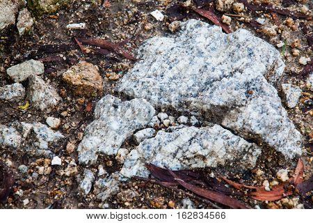 Soil, rock and brick texture for background