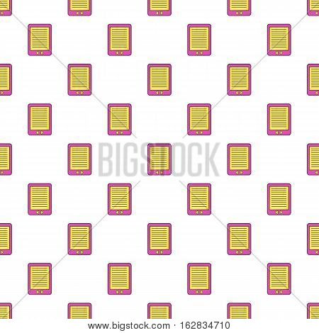 Cartoon illustration of e-book vector pattern for web