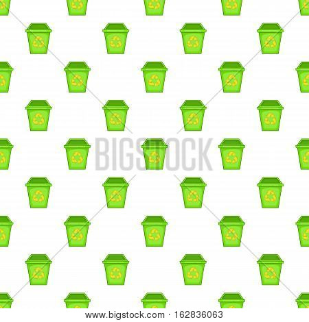 Cartoon illustration of eco dustbin vector pattern for web