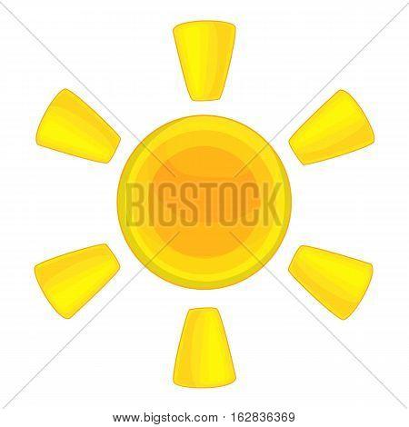 Cartoon illustration of sun vector icon for web design