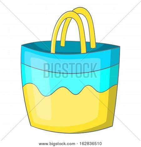 Beach bag icon. Cartoon illustration of beach bag vector icon for web design