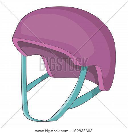 Protective helmet icon. Cartoon illustration of protective helmet vector icon for web design