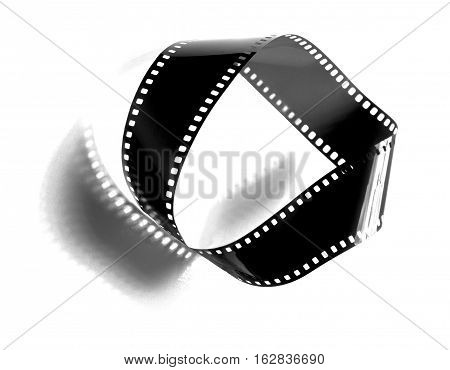 Moebius strip band  isolated on white color