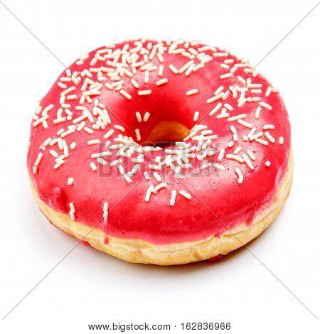 studio shot of tasty donut isolated on white background