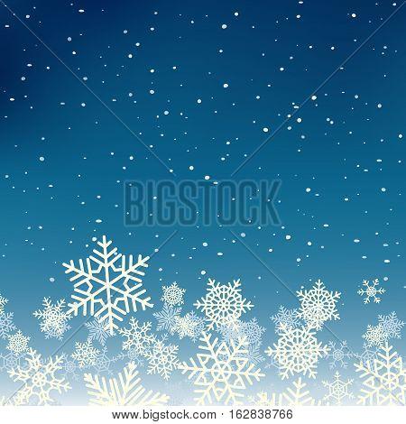 Winter xmas new year background with snowflakes. Xmas season design banner.