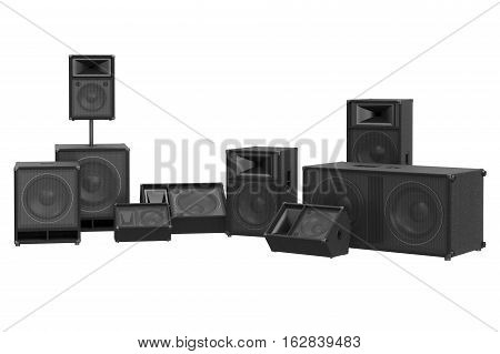 Speaker audio music stereo electronic. 3D rendering