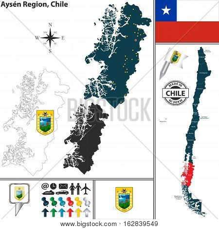 Map Of Aysen, Chile