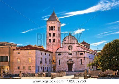 Zadar Historic Church And Roman Artifacts