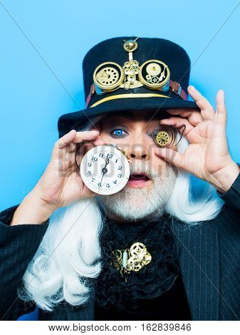 Surprised Ing Bearded Man Or Watchmaker
