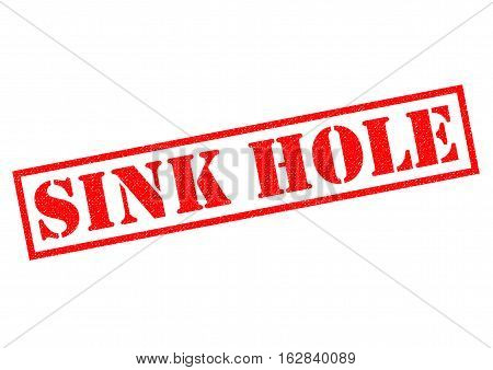 SINK HOLE red Rubber Stamp over a white background.