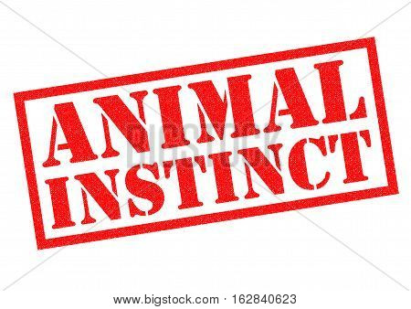 ANIMAL INSTINCT red Rubber Stamp over a white background.