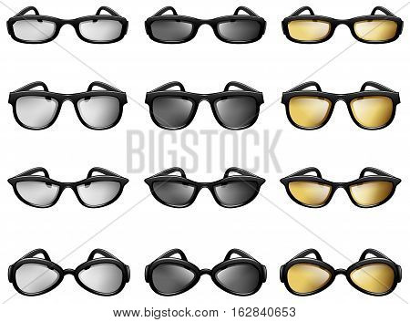 Vector Illustration of Eyeglasses. Best for Optometry, Fashion, Sport, Retro Style concept.