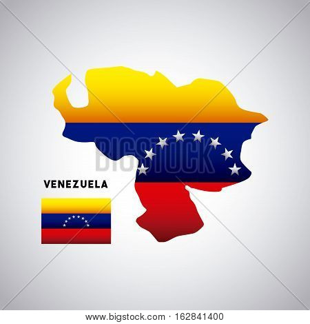 venezuela country map with colors of the flag. colorful design. vector illustration
