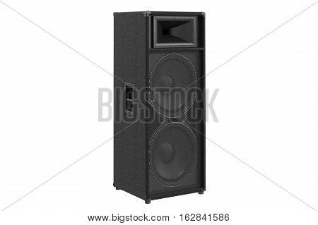 Speaker audio loud bass heavy melody. 3D rendering