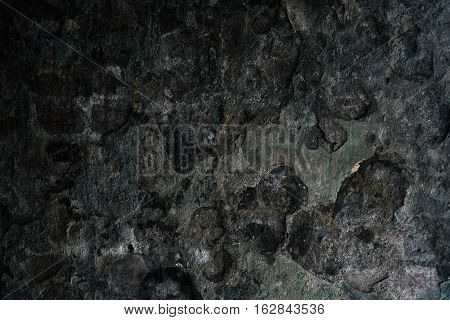 Close up view of burned wall. Abstact background