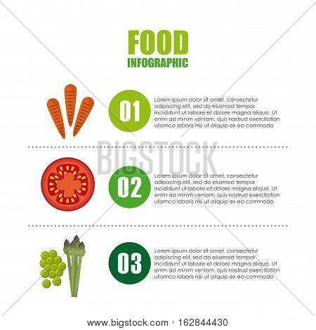 infographic presentation of food with vegetables icons. colorful design. vector illustration