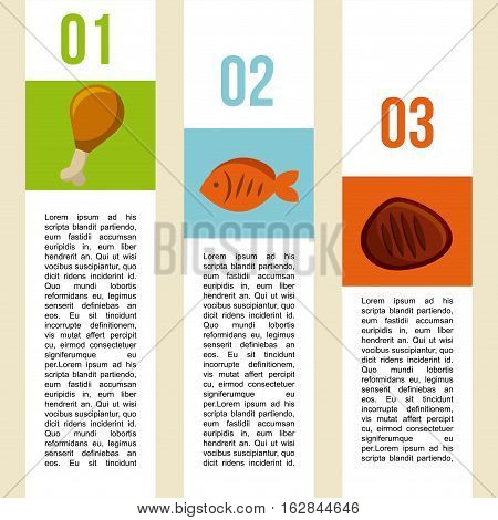 infographic presentation of food. colorful design. vector illustration