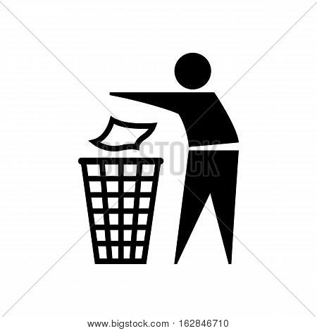 Symbol Do not waste. Vector icon on white background