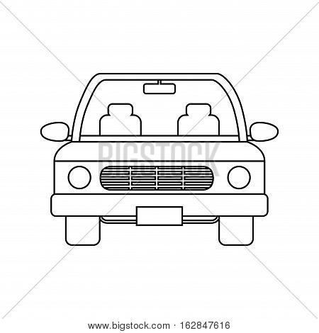 car vehicle icon over white background. vector illustration