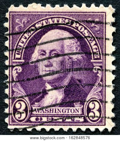 UNITED STATES OF AMERICA - CIRCA 1932: A used postage stamp from the USA depicting an illustration George Washsington circa 1932.