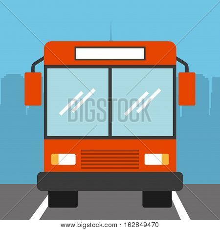 parked bus vehicle icon.colorful design. vector illustration