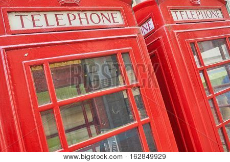British famous  and vintage Red phonebox in London