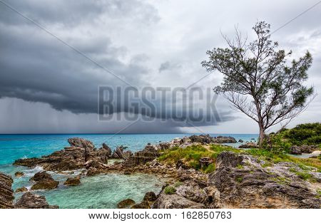Thunderstorm at Tobacco Bay Beach, St. George's Bermuda
