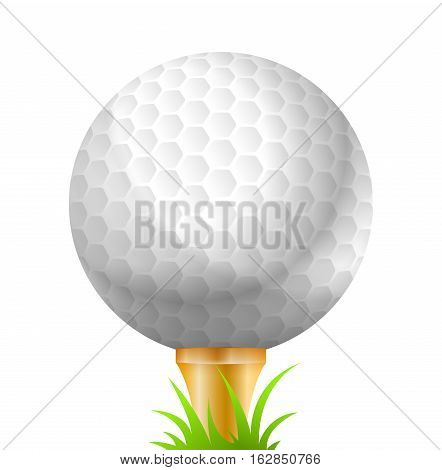 Vector Illustration of Golf Ball. Best for Sport, Design Element, Backgrounds concept.