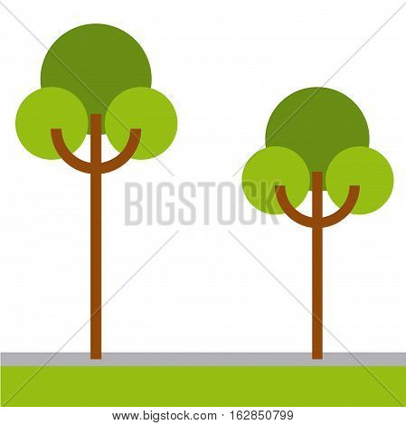 trees icon over white background. colorful design. vector illustration
