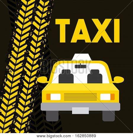 taxi car vehicle icon. colorful design. vector illustration