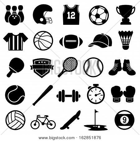 Vector Illustration of Sport Icons. Best for Sports, Design Element, Team Sport, Individual Sport, Abstract concept.