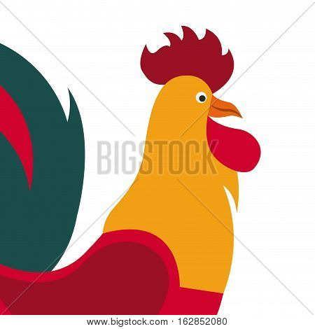 rooster icon over white background. colorful design. vector illustration