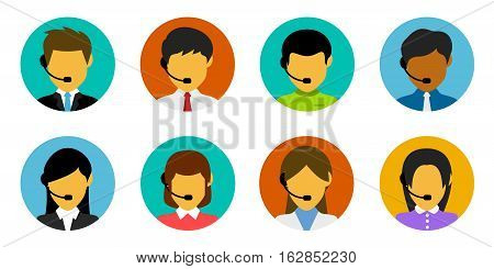 Vector Illustration of Customer Service People. Best for Business, Marketing, People, Information Technology, Sales concept.