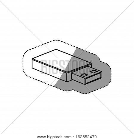 Usb icon. Connection technology equipment and hardware themeIsolated design. Vector illustration