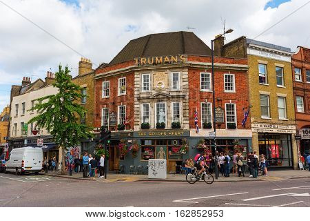 Pub At Commercial Street In Tower Hamlets, London, Uk