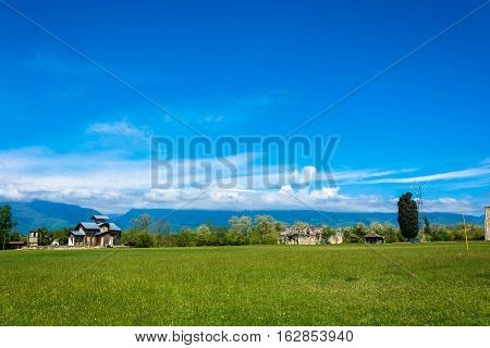 Landscape With Lyhnenskom Temple And The Ruins Of The Princely Palace, Abkhazia.