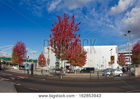 LONDON UK 18 october 2016: road near the terminal 3. Heathrow airport