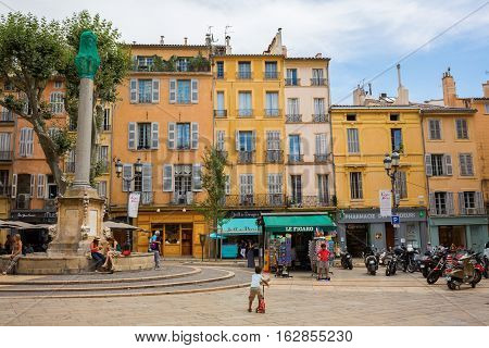 City Square In Aix-en-provence, France