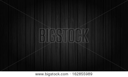 Vector Illustration of Black Wood Background. Best for Backgrounds, Design Element, Textures, Vintage, Studio, Grunge concept.
