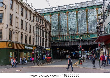 Central Station In Glasgow, Scotland, Uk