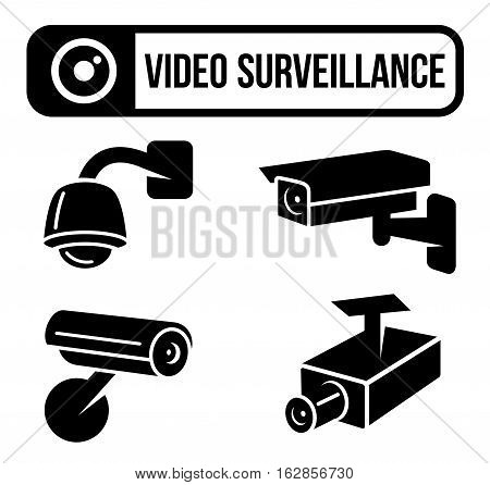 Vector Illustration of Video Surveillance. Best for Security, Safety, Technology, Signs and Symbols concept.