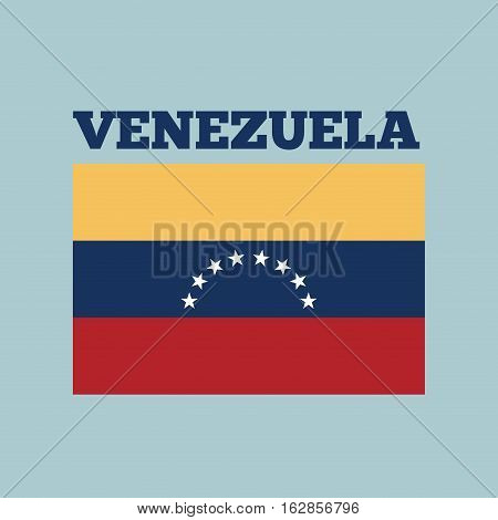 venezuela country flag icon over blue background. colorful design. vector illustration