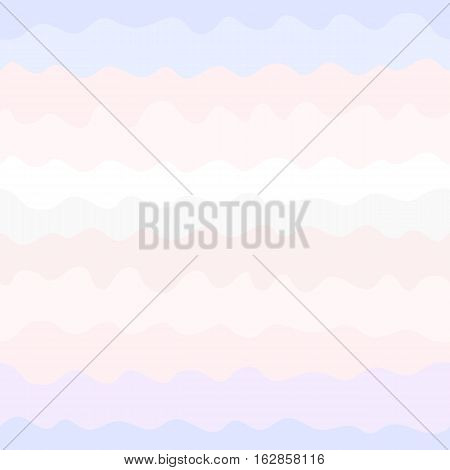 Vector seamless pattern, colorful wavy lines. Endless texture in pastel tones: soft pink, purple, grey, white, powdery. Abstract background, design element for prints, card, invitation, cover, banner, textile, digital, web