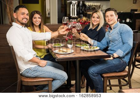 Two Couples On A Double Date