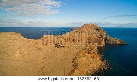 View from Ponta do Furado - Cais di Sardinha, Baia d'Abra - hiking trail at the most easterly point of Madeira - Ponta de Sao Lourenco