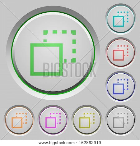 Send to back color icons on sunk push buttons