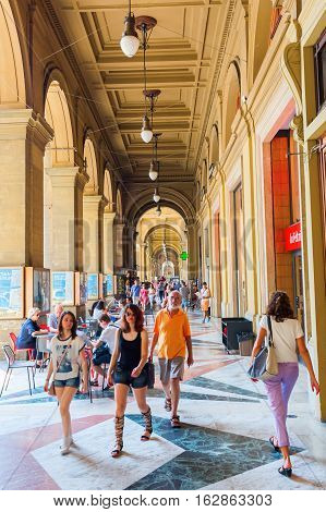 Arcades Beside The Piazza Repubblica In Florence, Italy