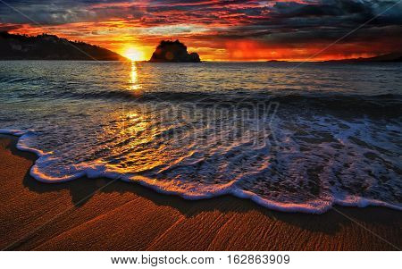 Amazing sun set capture on a great and wonderful evening