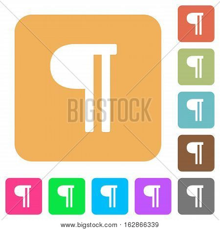 Text paragraph icons on rounded square vivid color backgrounds.